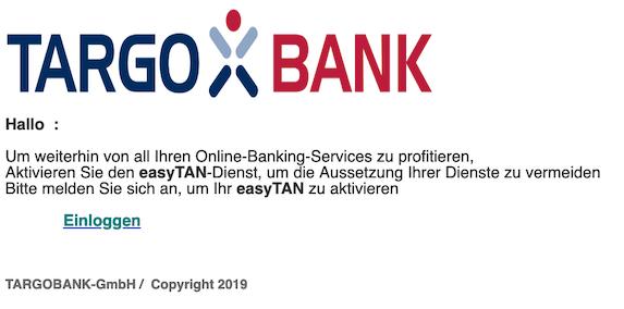 2019-03-18 Targobank Phishing