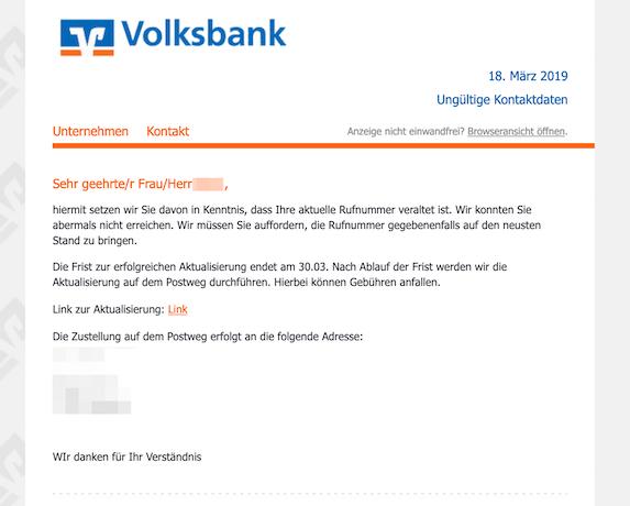2019-03-19 Volksbank Phishing