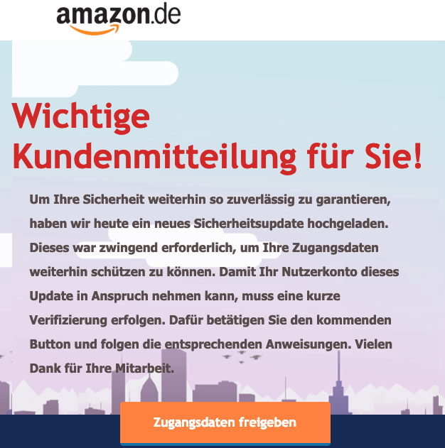2019-03-21 Amazon-Spam Aktuelle Kundenmitteilung