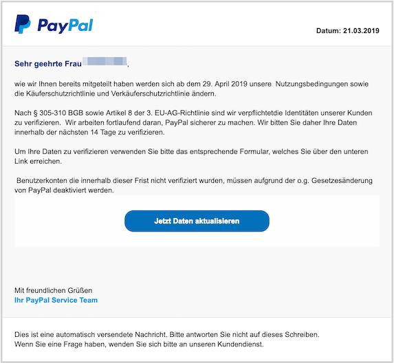 2019-03-23 Phishing PayPal