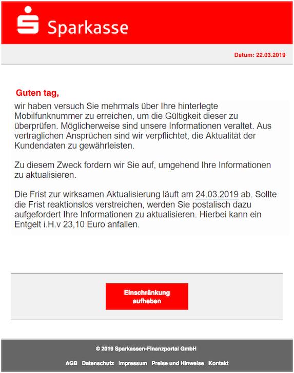 2019-03-23 Phishing Sparkasse