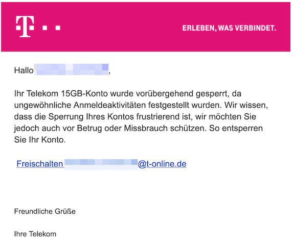 2019-03-23 Phishing Telekom