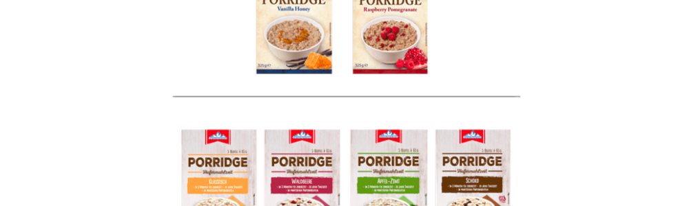 Aldi Nord: Rückruf von Gletscherkrone Porridge wegen Fremdkörper
