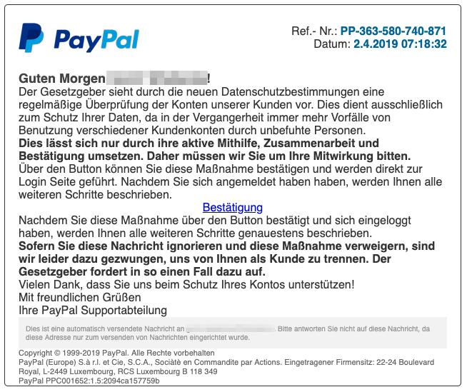 Support Paypal.De