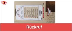 Rückruf Baklava Blätterteiggebäck