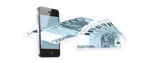 Smartphone Handy Geldschein Symbolbild