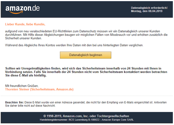 2019-04-08 Phishing Amazon