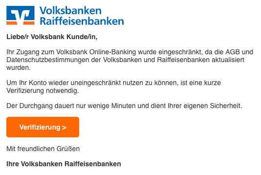2019-04-08 Volksbank Spam-Mail Konto blockiert