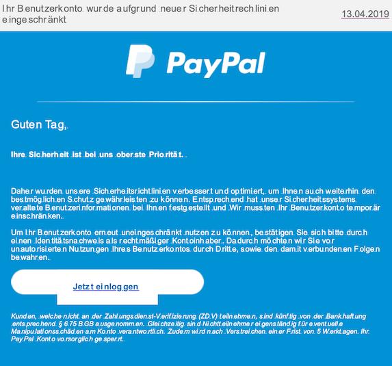 2019-04-14 Phishing PayPal