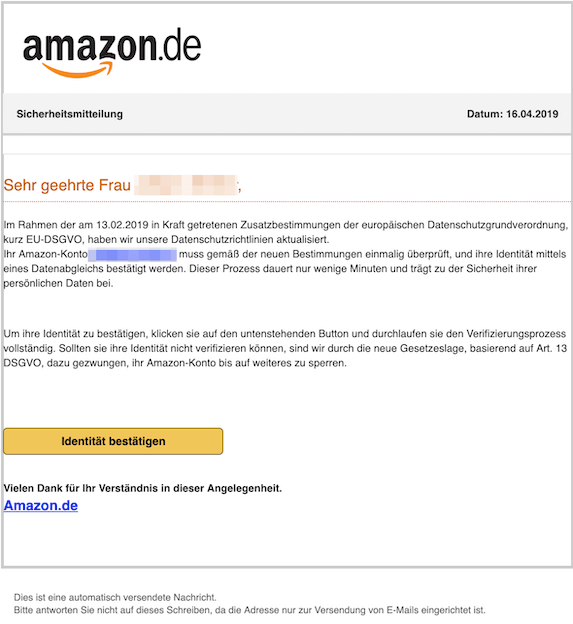 2019-04-16 Phishing Amazon