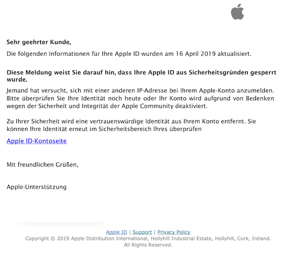 2019-04-17 Phishing Apple