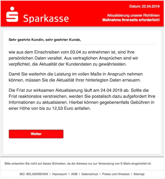 2019-04-22 Phishing Sparkasse