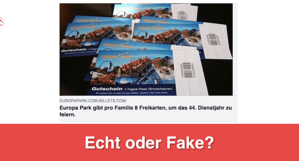 WhatsApp & Facebook: Europa-Park feiert 44. Geburtstag und verschenkt 8 Freikarten – Echt oder Fake?