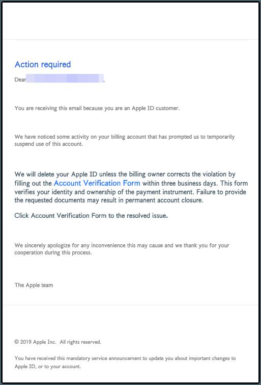 2019-04-23 Apple Phishing