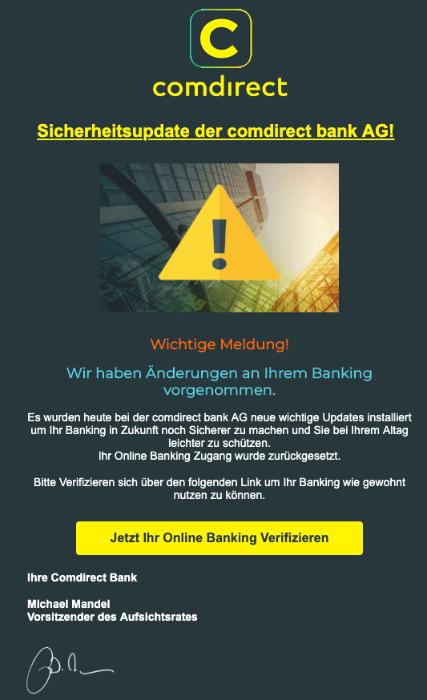2019-04-25 Comdirect Phishing-Mail Meldung