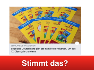 2019-04-25 Facebook Fake-Aktion Legoland Freikarten