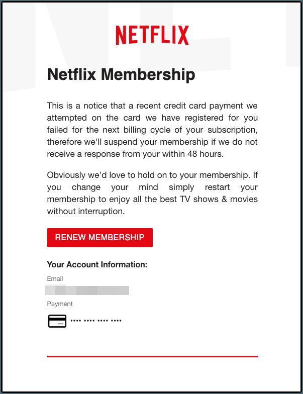 2019-04-25 Phishing Netflix