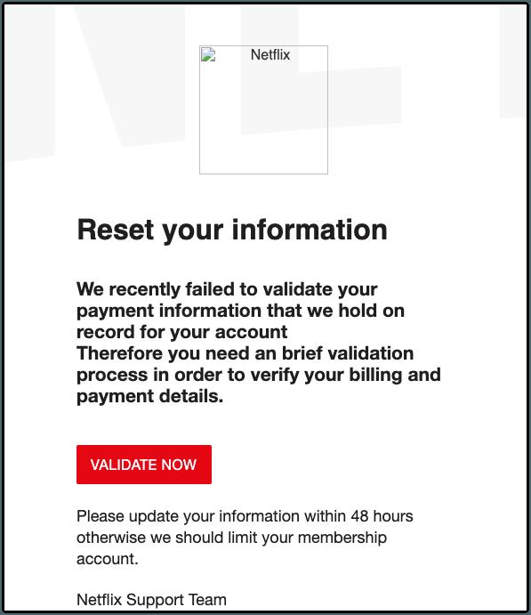 2019-04-25 Phishing Netflix1