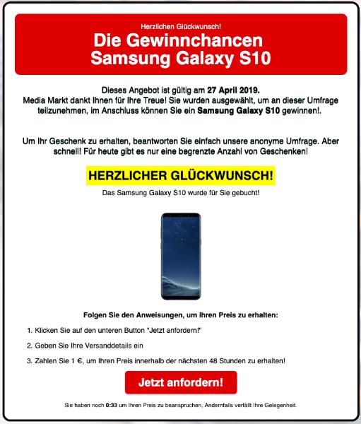 2019-04-27 MediaMarkt Gluecksrad gewinn