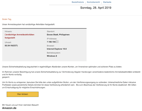 2019-04-29 Phishing Amazon