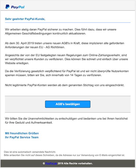 2019-04-29 Phishing PayPal