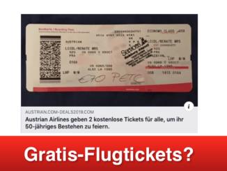2019-04-30 Fake-Gewinnspiel im Namen von Austrian Airlines auf Facebook