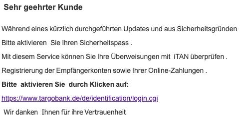 2019-05-15 Volksbank Spam-Mail Neue Nachricht