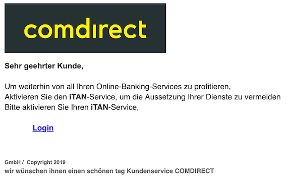 2019-06-19 Phishing comdirect
