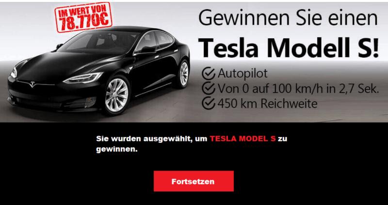 2020-01-18 Gewinnspiel Tesla Model S