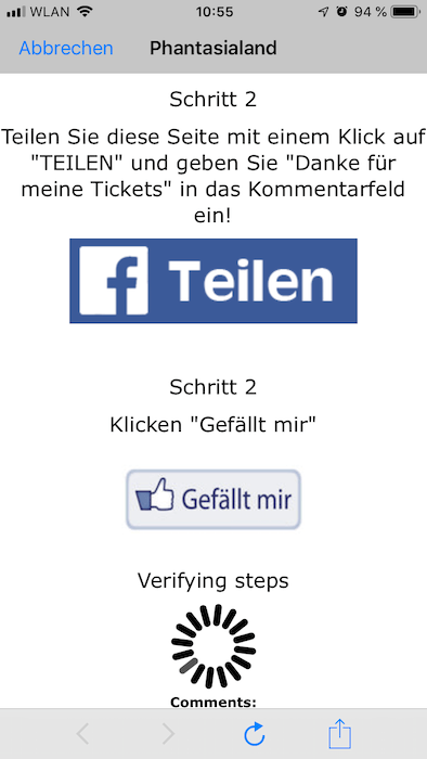 Facebook Phantasialand Karten2