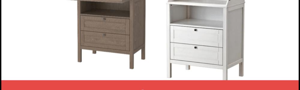 IKEA Rückruf/Reparatur: SUNDVIK Wickeltisch/Kommode aufgrund von Sturzgefahr