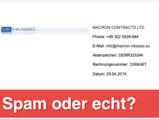 MACRON CONTRACTS LTD Mahnung