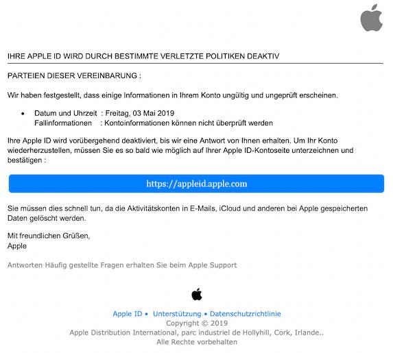 2019-05-03 Phishing Apple