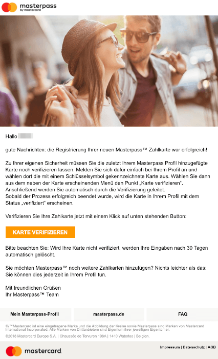 2019-05-05 Mastercard Masterpass E-Mail mit Anrede