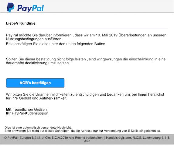 2019-05-11 Phishing PayPal