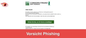 2019-05-11 Phishing im Namen der Consorsfinanz