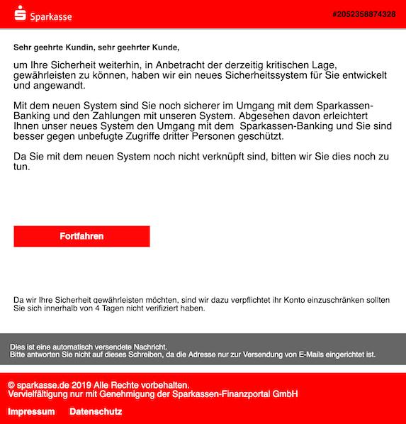 2019-05-13 Phishing Sparkasse