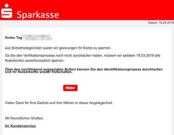 2019-05-19 Phishing Sparkasse