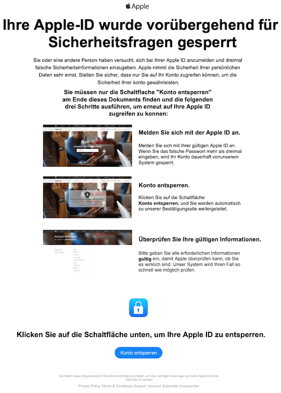 2019-05-23 Phishing Apple