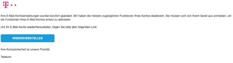 2019-05-23 Telekom Spam-Mail Konto Wiederherstellung