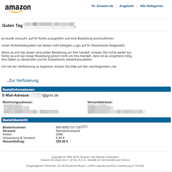 2019-05-25 Phishing Amazon