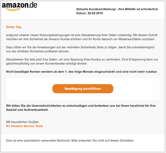 2019-05-27 Phishing Amazon