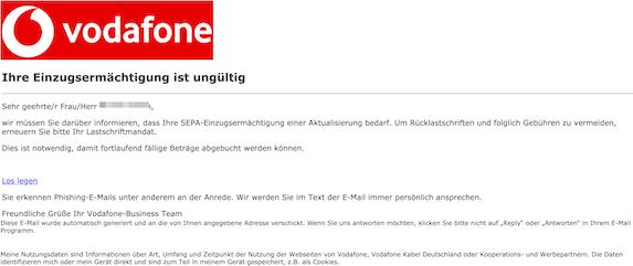 Vodafone de: E-Mail