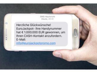 2019-05-31 SMS Gewinn Eurojackpot Fake