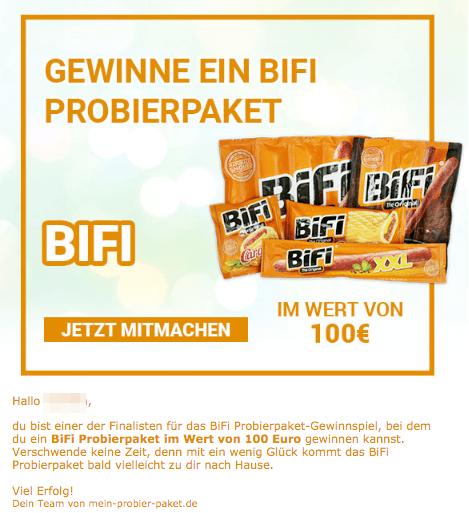 2019-06-24 BiFi Probierpaket Spam-Mail
