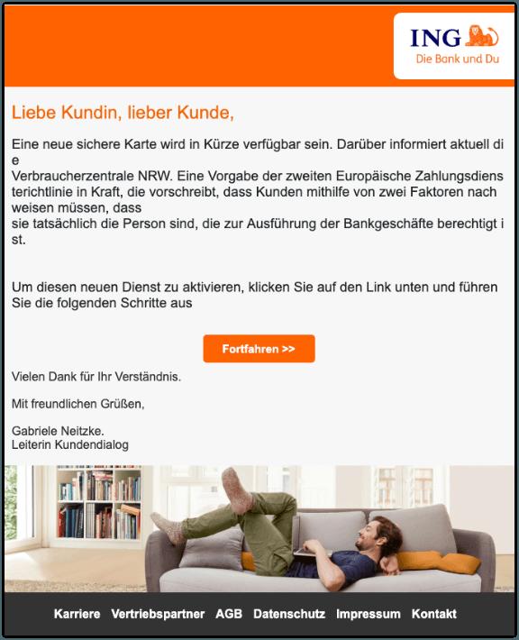 2019-07-01 ING Spam-Mail Die iTAN-Liste steht vor dem Aus