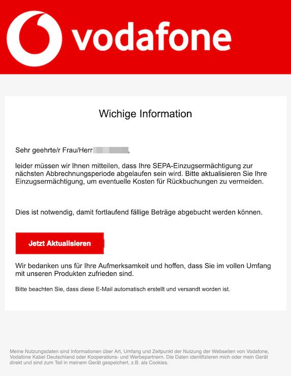 2019-07-14 Phishing Vodafone