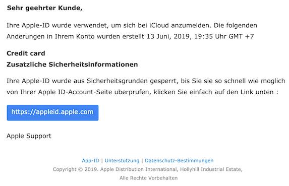 2019-06-14 Phishing Apple