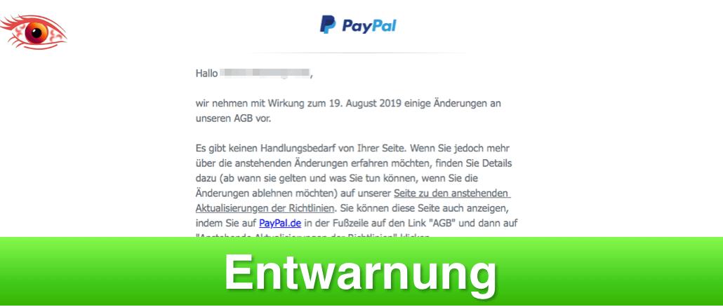 Falsche Email Von Paypal