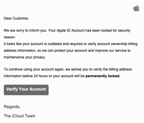 2019-06-20 Apple Spam-Mail Your Aρρle account was used to sign in to iCloud from Peru